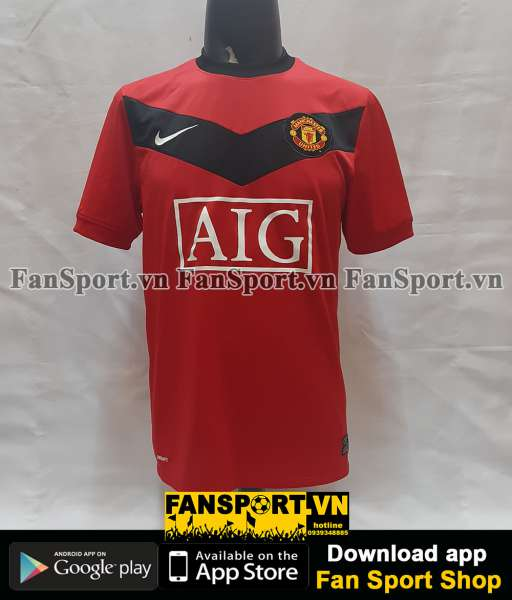 Áo đấu Giggs #11 Manchester United 2009-2010 home shirt jersey red