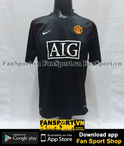 Áo đấu Manchester United 2007-2008 away shirt jersey black