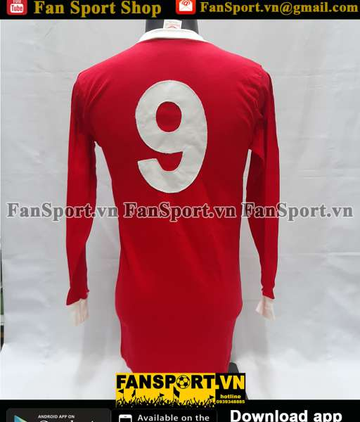 Áo đấu #9 Manchester United 1961-1971 home shirt jersey red