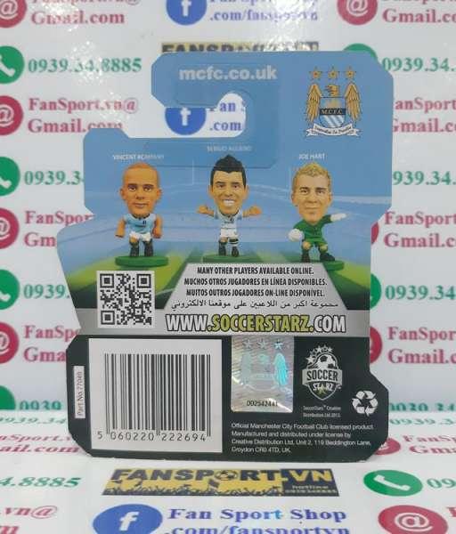 Tượng Carlos Tevez #32 Man City 2012-2013 home Soccerstarz figure