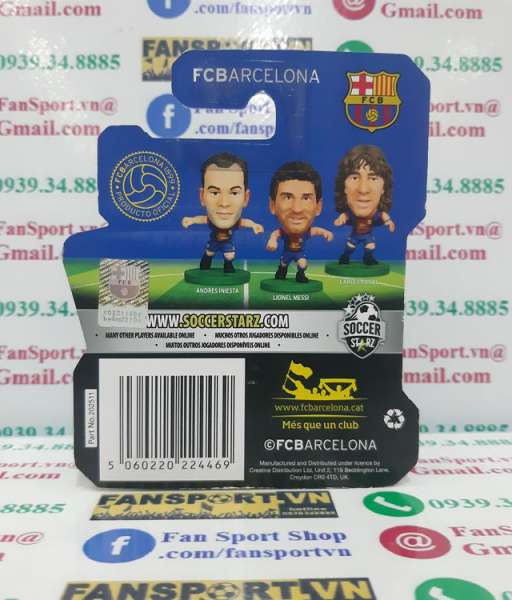 Tượng Gerard Pique #3 Barcelona 2013-2014 away Soccerstarz figure