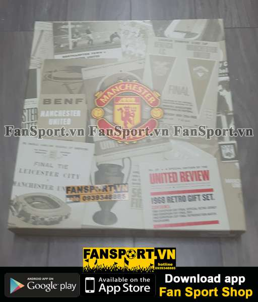 Box áo Manchester United 1968 Score Draw official retro Bobby Charlton