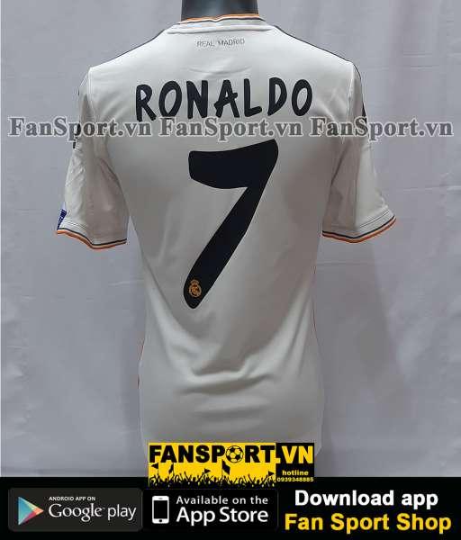 Áo Ronaldo 7 Real Madrid Champion League Final 2014 home shirt jersey