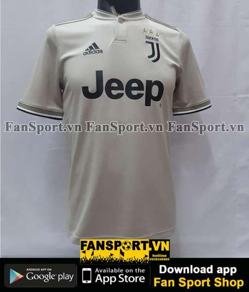 Áo đấu Cristiano Ronaldo 7 Juventus 2018-2019 away grey shirt jersey