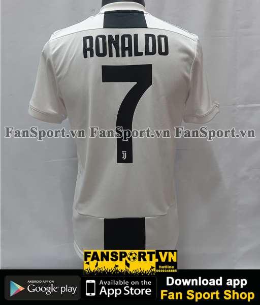 Áo đấu Ronaldo 7 Juventus 2018-2019 home black white shirt jersey