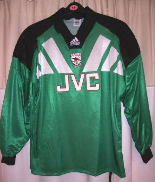 Home 1992-1994 GK Arsenal - shirt jersey goalkeeper green áo thủ môn