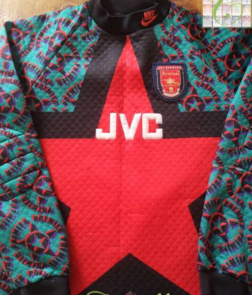 Home 1994-1995 GK Arsenal - shirt jersey goalkeeper black áo thủ môn