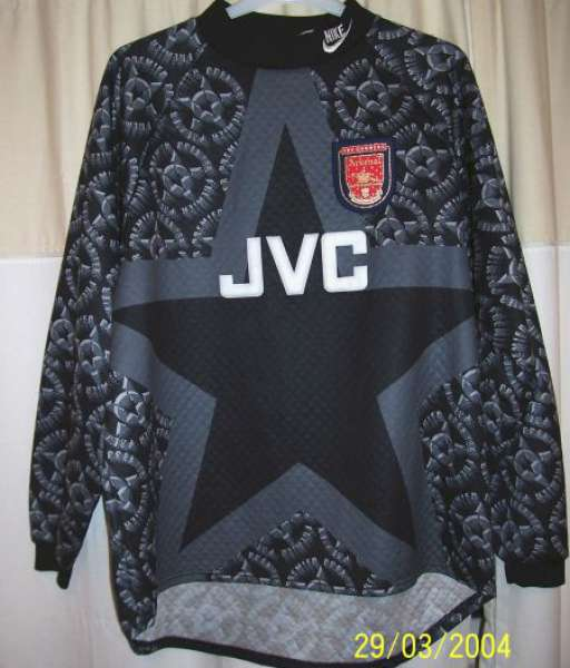 Other 1993-1994 GK Arsenal - shirt jersey goalkeeper black áo thủ môn