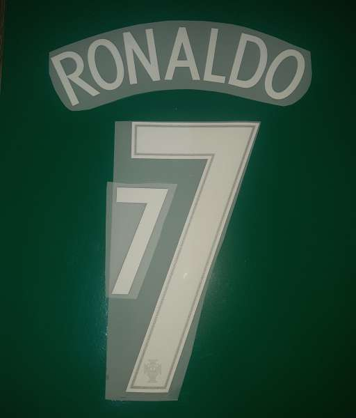 Font Ronaldo #7 Portugal 2016-2017-2018 home ehite nameset