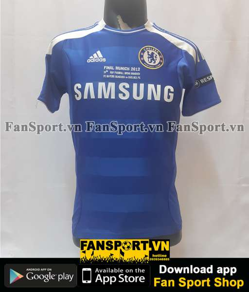 Áo Lampard 8 Chelsea Champion League Final 2012 home shirt jersey 2011