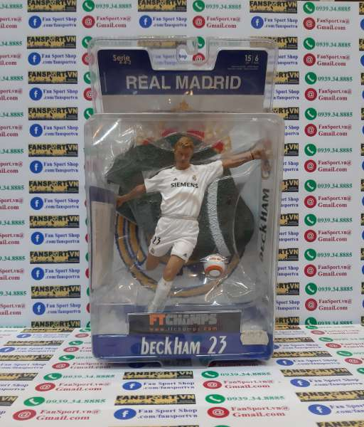 Tượng Beckham #23 Real Madrid 2005-2006 home Ft champs white figure