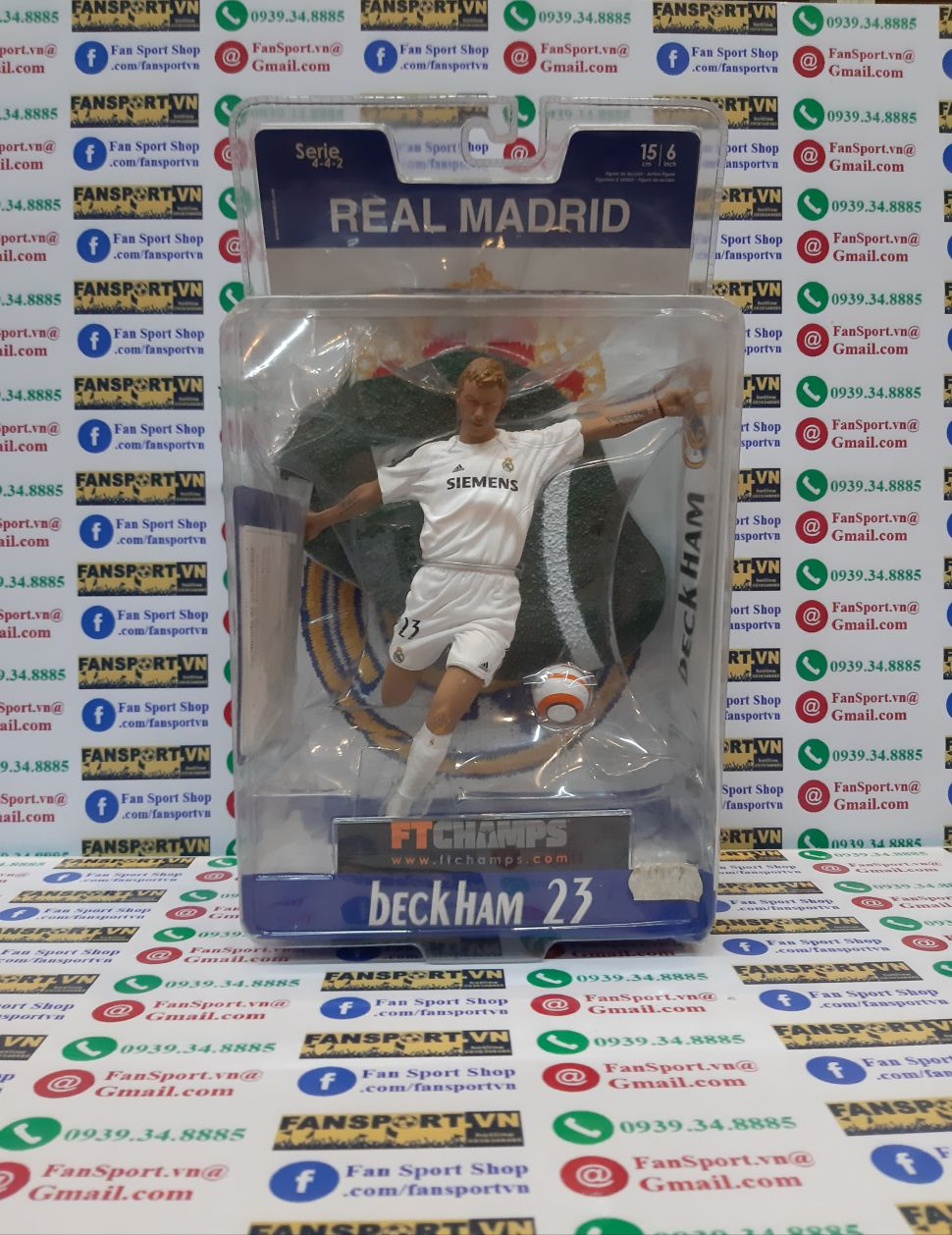 Tượng Beckham #23 Real Madrid 2005-2006 home Ft champs white figure