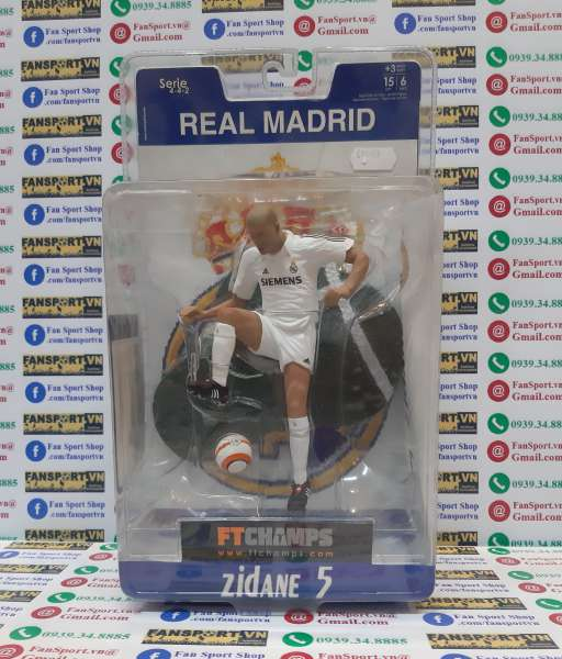 Tượng Zidane #5 Real Madrid 2005-2006 home Ft champs white figure