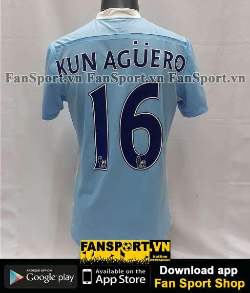 Áo đấu Kun Aguero #16 Manchester City 2011-2012 home shirt jersey blue