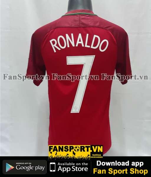 Áo đấu Ronaldo #7 Portugal Euro Final 2016 home shirt jersey 2017 2018