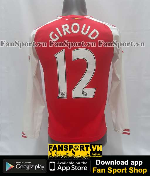 Áo đấu Giroud #12 Arsenal 2014-2015 home shirt jersey red