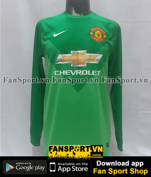 Áo De Gea #1 Manchester United 2014-2015 third goalkeeper shirt gk