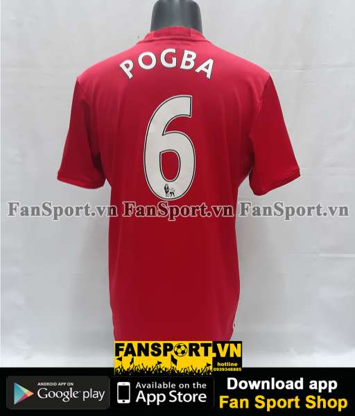 Áo đấu Pogba #6 Manchester United 2016-2017 home shirt jersey red