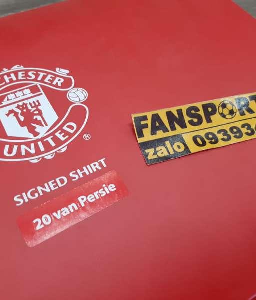 Box áo chữ ký Persie Manchester United 2013-2014 home shirt signed COA