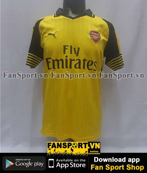 Áo đấu Arsenal 2016-2017 away shirt jersey yellow