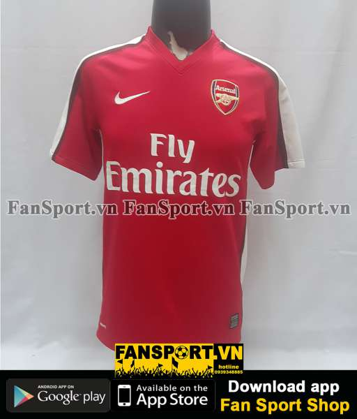 Áo đấu Nasri #8 Arsenal 2008-2010 home shirt jersey red