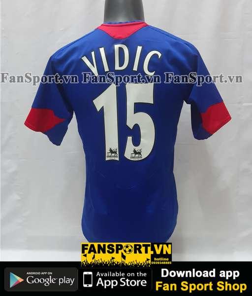 Áo đấu Vidic 15 Manchester United 2005 2006 away shjrt jersey blue