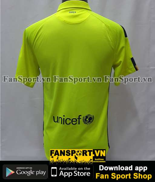Áo đấu Barcelona 2014-2015 third shirt jersey green