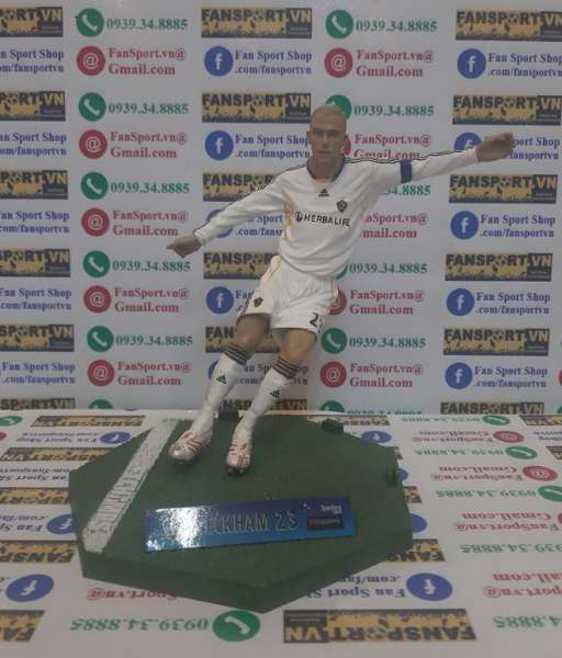 Tượng David Beckham 23 LA Galaxy 2007-2008 home FT champs figures box
