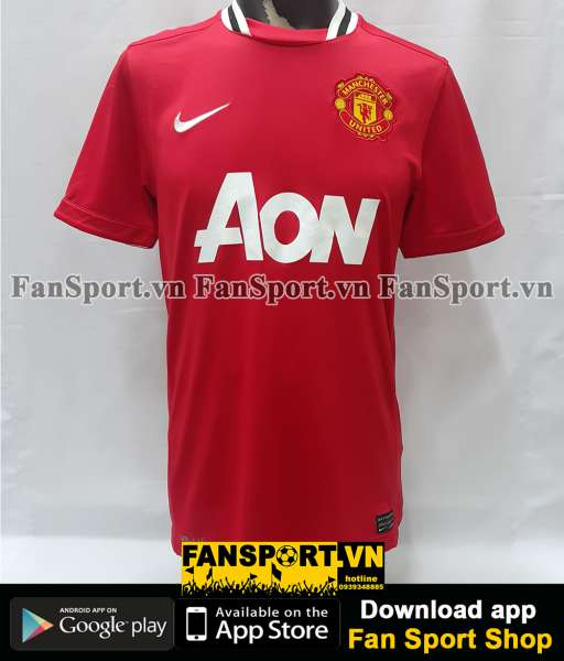 Áo đấu Vidic #15 Manchester United 2011-2012 home shirt jersey red