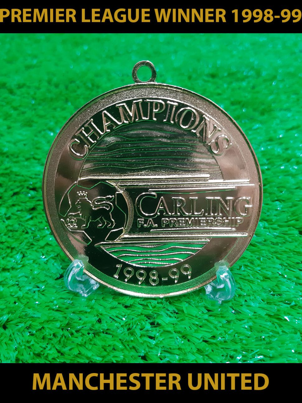 1998-1999 Premiership Manchester United champion winner medal gold