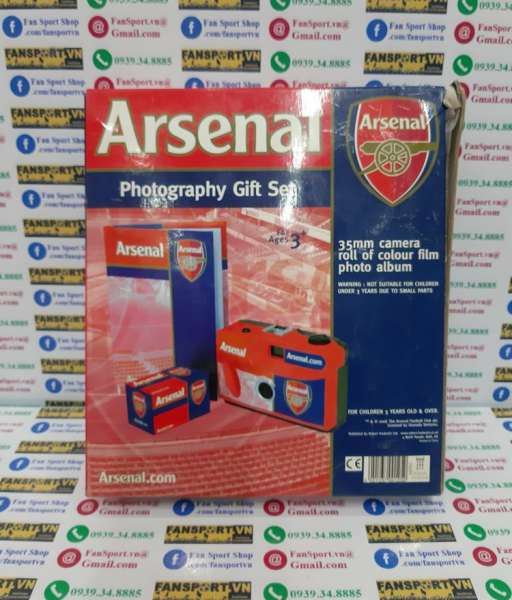 Arsenal gift camera book set box