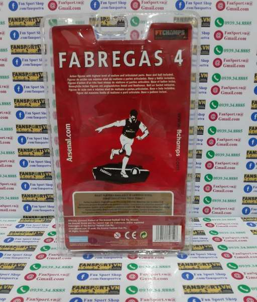 Tượng Cesc Fabregas 4 Arsenal 2008-2009-2010 home FT Champs figure 15