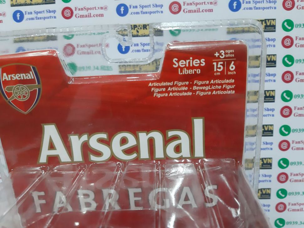 Tượng Cesc Fabregas 4 Arsenal 2008-2009-2010 home FT Champs figure 15