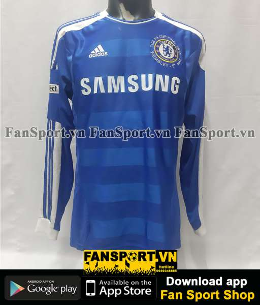 Áo Torres 9 Chelsea FA Cup Final 2012 home shirt jersey blue 2011 long
