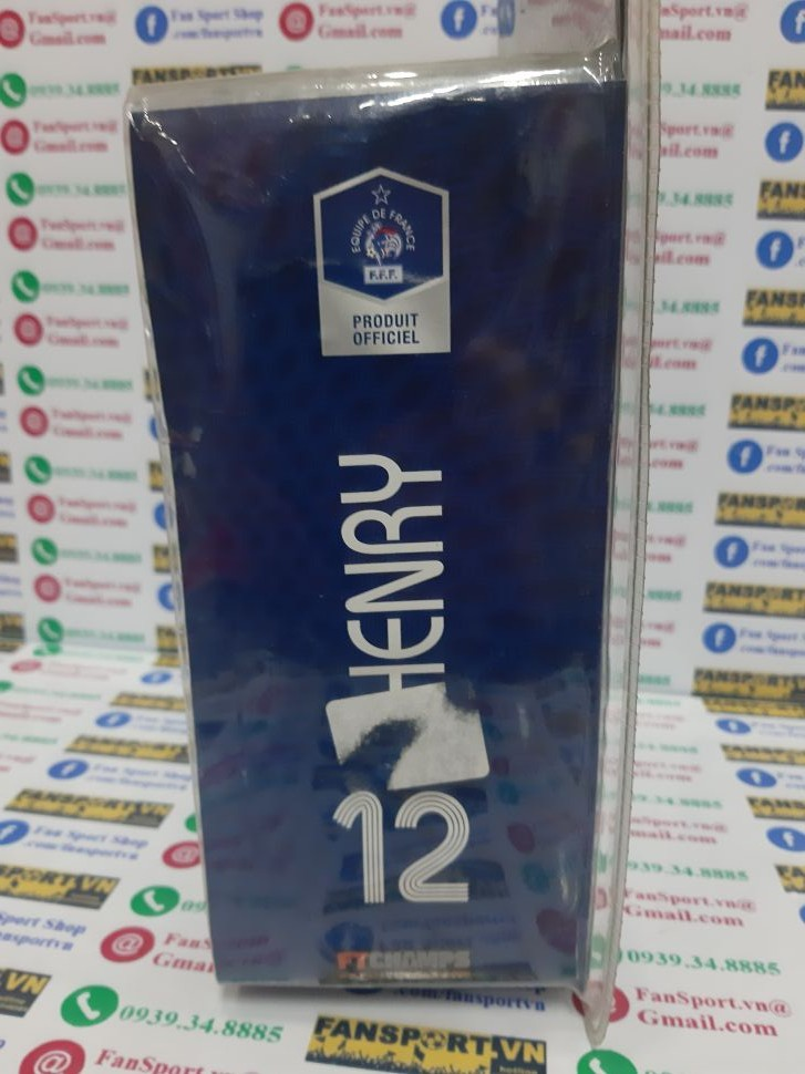 Tượng Henry #12 France 2006-2007 home FT Champs new in box
