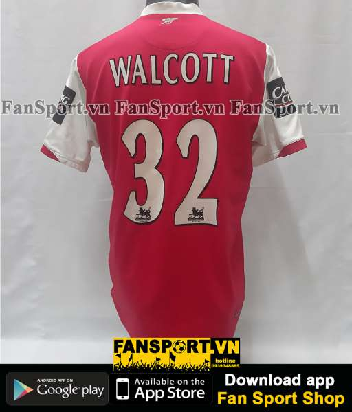 Áo Walcott 32 Arsenal League Cup final 2007 home shirt 2006-2008 red