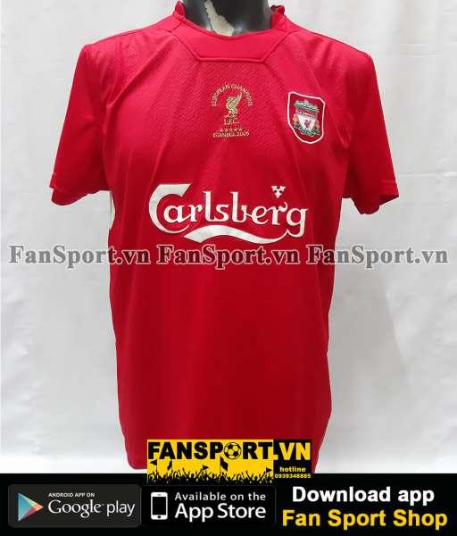 Áo retro Liverpool Champion League final 2005 home shirt jersey 2004