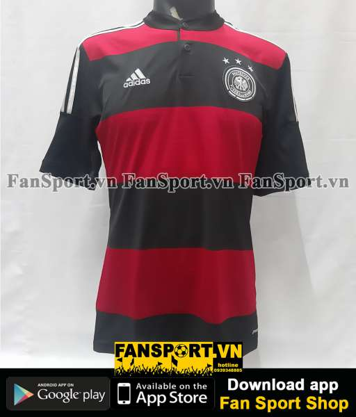 Áo đấu Germany 2014-2015 away shirt jersey red black World Cup