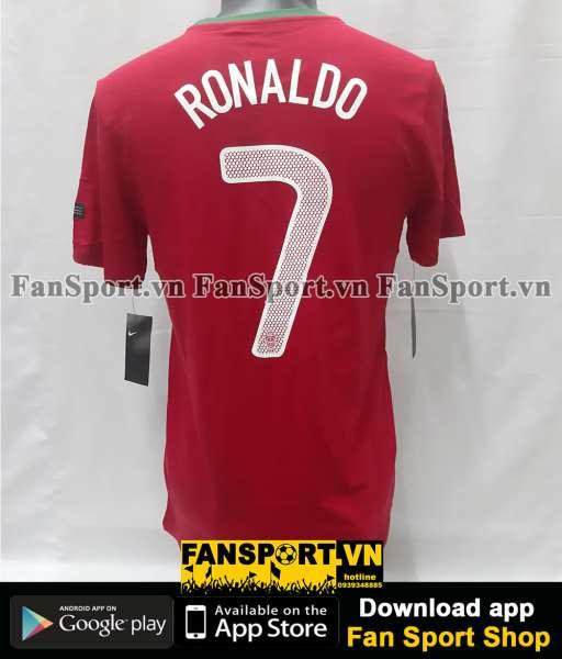 Áo Ronaldo #7 Portugal 2012-2013-2014 home shirt jersey red T-shirt
