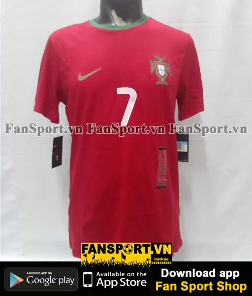 Áo Ronaldo #7 Portugal 2012-2013-2014 home shirt jersey red T-shirt