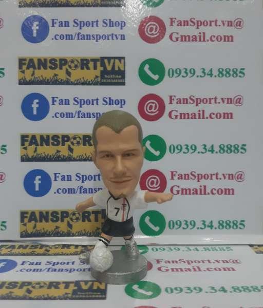 Tượng Beckham #7 England 2001-2002-2003 home white pocket sport figure
