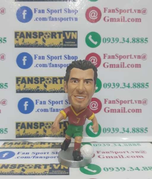 Tượnh Luis Figo #10 Portugal 2000-2001-2002 home red pocket sport