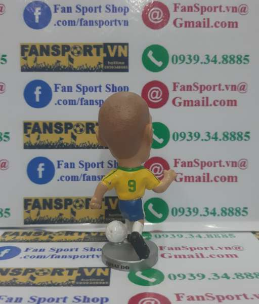 Tượng Ronaldo #9 Brazil 1998-1999-2000 home yellow pocket sport figure