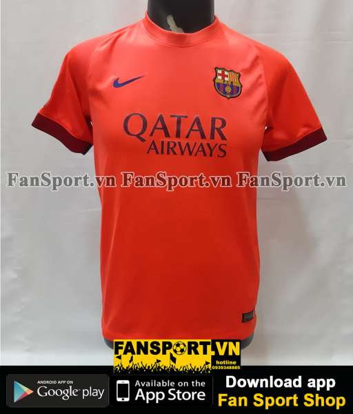 Áo đấu Barcelona 2014-2015 away shirt jersey orange