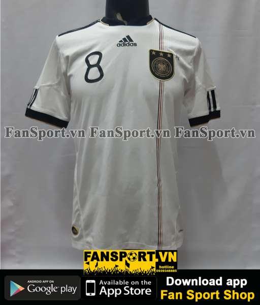 Áo đấu Ozil 8 Germany World Cup 2010 home shirt jersey white 2011 2012