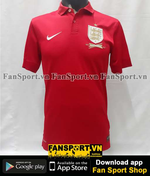 Áo đấu England 2013-2014 away shirt jersey red