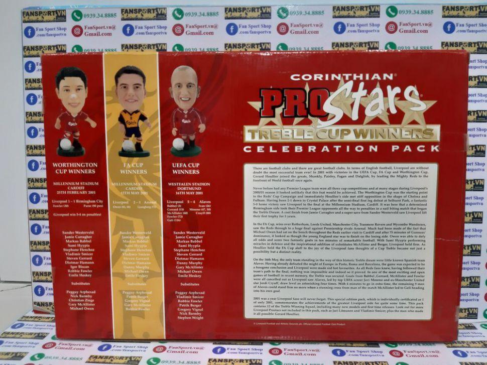 Box Liverpool 2000-2001 Treble winner Celebration pack corinthian 1918