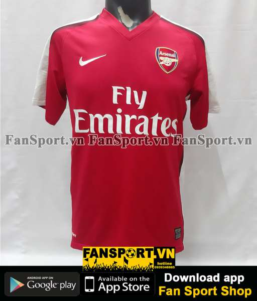 Áo đấu Arsenal 2008-2009-2010 home shirt jersey red