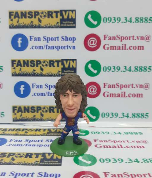 Tượng Carles Puyol 5 Barcelona 2012-2013 home soccerstarz figure
