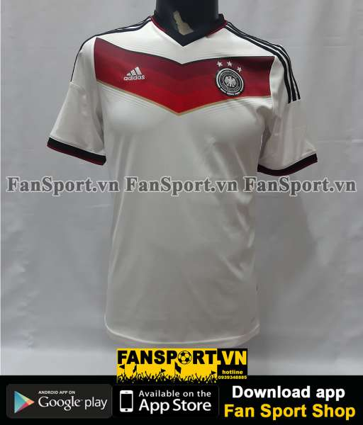 Áo đấu Germany 2014-2015 home shirt jersey white World Cup